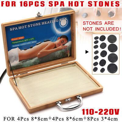 AU 60℃ Hot Stone Massage Heater Box For Lava Spa Rock Basalt Stones Body SPA