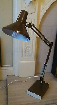 Vintage Industrial/office Anglepoise Electric Metal Lamp Heavy 70-80s ?