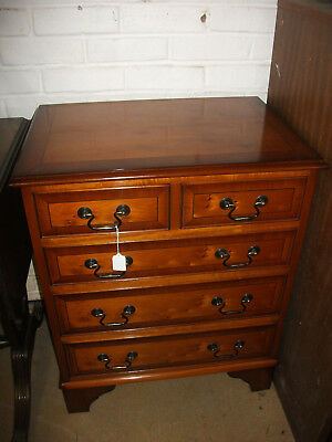 390 - 20th Century Yew Wood Five Drawer Chest