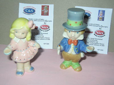Wade Mad Hatter And Alice. 2005 Mabel Lucie Attwell. With Certificates.