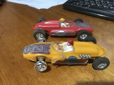 2 Vintage Scalextric Cars Made In Hong Kong