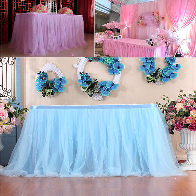 NEW Table Skirt Cover Birthday Banquet Wedding Festive Party Decor Table Cloth