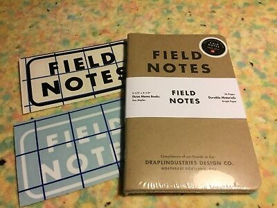Field Notes TENTH ANNIVERSARY EDITION Sealed Pack of 3 memo books