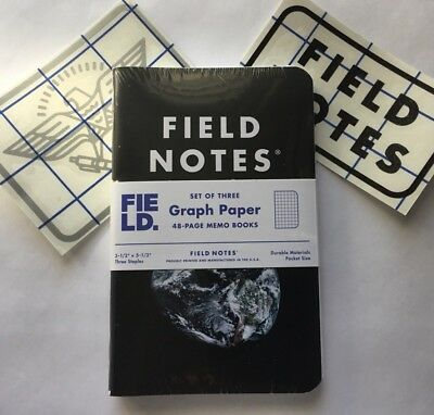 Field Notes EARTH Edition Field Museum Sealed Pack of 3 memo books