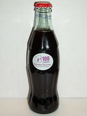 8 Oz Coca Cola Commemorative Bottle - 2004 Big Brothers - Big Sisters 100 Years