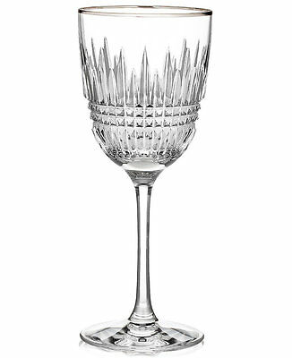 Waterford Crystal LISMORE DIAMOND PLATINUM Red Wine / Water Goblet Glass - NEW!