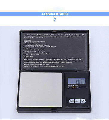 500G/0.1g LCD Digital Pocket Scale Jewelry Electronic Gram Balance Weight Scale