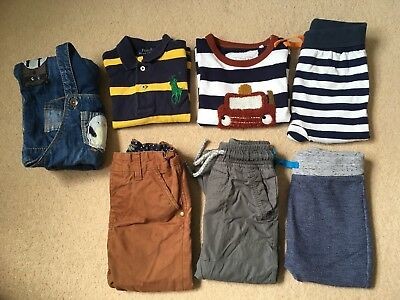 Baby boy Toddler clothes bundle 12-18 months 7 Items Next Ralph Lauren Polo