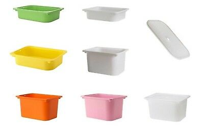 Ikea Trofast Storage Bo And Lids Plastic Tubs Small Large