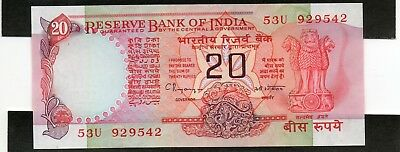 INDIA 20 Rupees 1997 P82i Letter B UNC Banknote