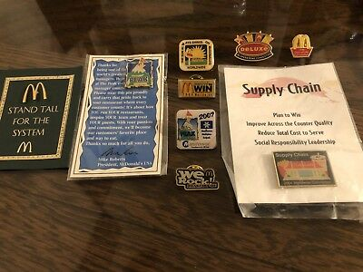 9 McDonald's Convention Collector Pins