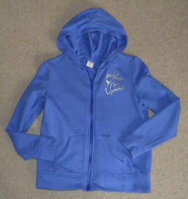 Gymboree Mix N Match Girls Periwinkle Ballet On Point Jersey Hoodie Jacket 10-12