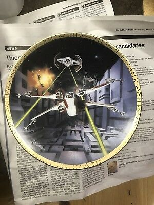 1995 Star Wars Red Five X-Wing Fighter Space Vehicles Hamilton Plate