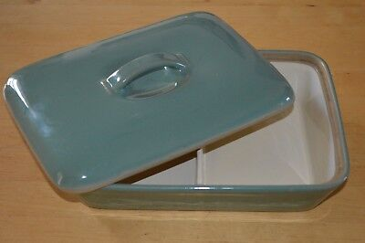 Denby Manor Green Divided Serving Dish with Lid