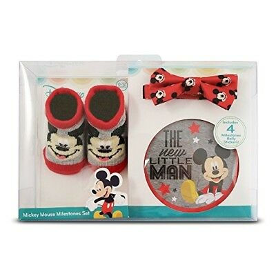 Disney Baby Mickey Mouse Milestones Set The New Little Man 0-12 months/ 4-pieces