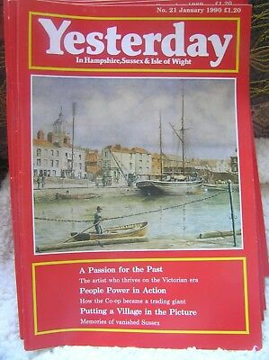 YESTERDAY MAGAZINE No 21 JAN 1990 IN HAMPSHIRE SUSSEX & ISLE OF WIGHT CO-OP