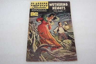 CLASSICS ILLUSTRATED COMIC No 128 WUTHERING HEIGHTS c 1960's