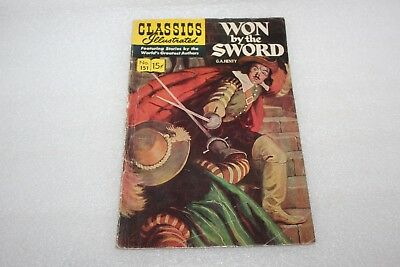 CLASSICS ILLUSTRATED COMIC  No 151  WON BY THE SWORD 1967