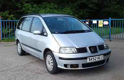 Seat Alhambra 1.9 tdi S 2002 Silver  Re-listed owing to time waster.