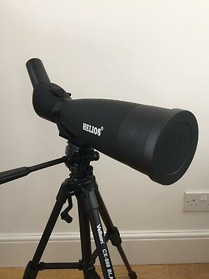 Helios Fieldmaster A90 30-90 Spotting Scope with Velbon Tripod and carry case