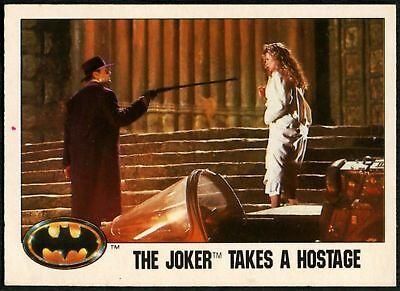 The Joker Takes A Hostage #111 Batman 1989 Topps Trade Card (C1367)