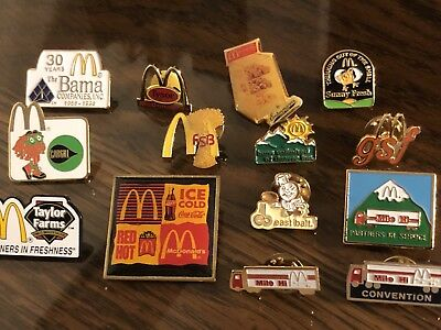 14 McDonald's Distribution and Supplier Collector Pins