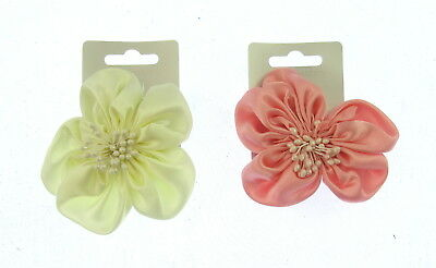 small hair flower clip in satin 8 cm  weddings, party