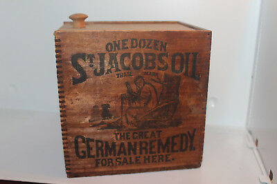 St Jacobs Oil The Great German Remedy Wood Shipping/store Display Box Crate Case