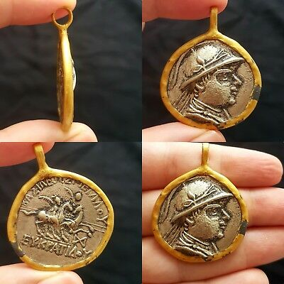 Silver plated Coin rare nice Gold plated Unique Pendant