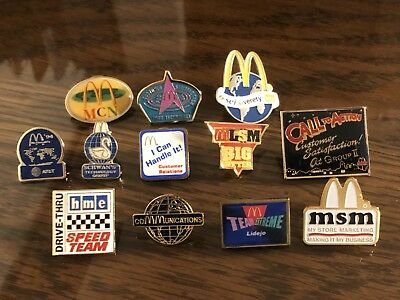 12 McDonald's Technology, Communication, and Marketing Collector Pins