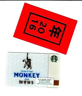 STARBUCKS Cards 2016 Year of the Monkey rare mint with sleeve