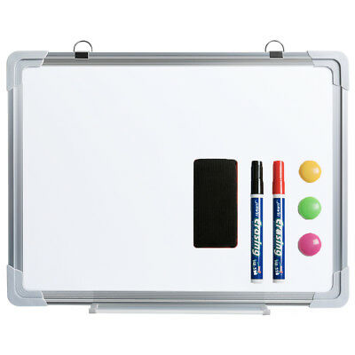 "Small Dry Erase Board Magnetic Whiteboard with Eraser Marker Magnets,12"" ×16"""