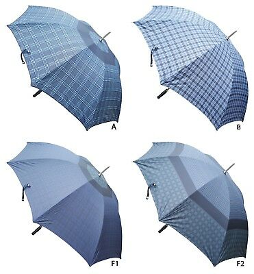ACCLAIM Blue Check Panel Rubber Handle Sports Metal Frame Golf Style Umbrella