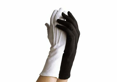 Cotton Gloves- Long Writed Black
