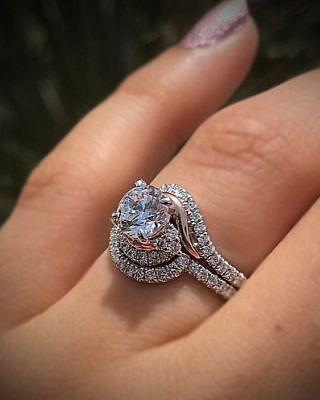 14K White Gold Certified 2CT Solitaire Round Cut Diamond Unique Engagement Ring