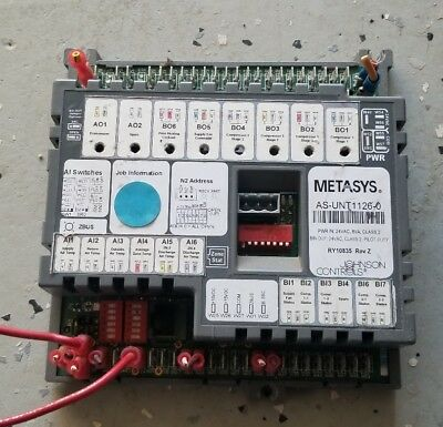 Johnson Controls Metasys unitary controller AS-UNT1126-0 Rev AA RY1 1332 HVAC