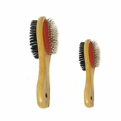 Rosewood Wooden Double Sided Brush Grooming Pet Animal Dog Hair Remove Brush S M