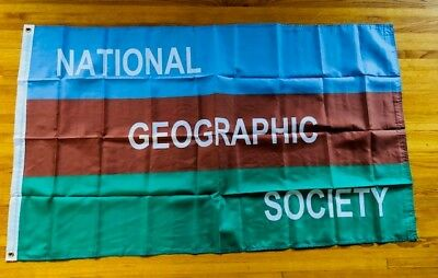 National Geographic Society Flag Banner - 3x5 feet  - brand new