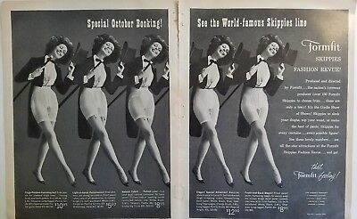 1961 women's Formfit Skippy's fashion review girdle tuxedo Top Hat cane ad