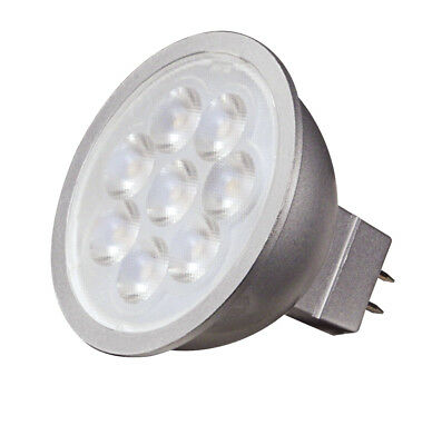 Satco S9499 6.5W LED MR16 LED 5000K 40' Beam Spread GU5.3 Base 12V Light Bulb