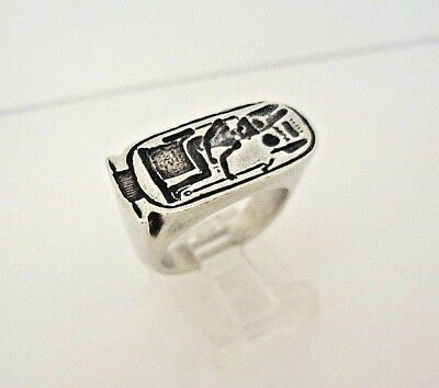 Vintage Rare MMA 1976 King Tut Egyptian Ring Sterling Silver Size 7