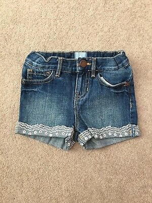 Girls Gap Denim Shorts Age 18-24 Months