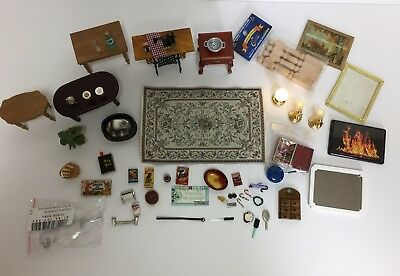 Big 1:12 Scale Dollhouse Miniature Accessories Lot LED Battery Light Fixtures