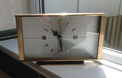 "Seth Thomas Vintage Retro Clock - 1970's Large & Heavy! 9.5"" Wide x 5 3/4"" High"