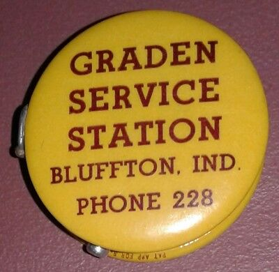 1900s Celluloid Graden Service Station Bluffton IN Sewing Tape Seiberling Tires