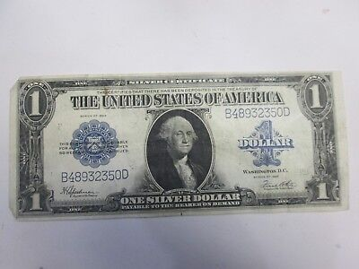 1923 Us $1 Large Size Silver Certificate Note