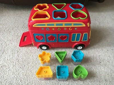 ELC Early Learning Centre Baby Children's Red Push Along Shape Sorting Bus