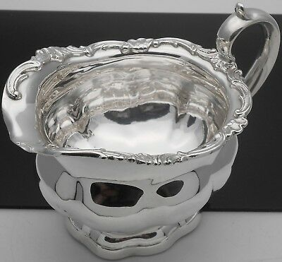 STERLING SILVER VERY LARGE CREAM JUG - LONDON 1899 - 218g - ANTIQUE