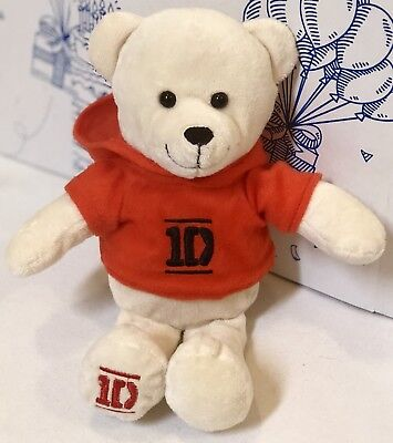 "One Direction 1D 6/"" Teddy Bear Backpack Clip Officially Licensed I Love 1D NWT"