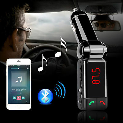Bluetooth Wireless Dual USB Car Charger FM transmitter for iPhone 8 X Samsung LG